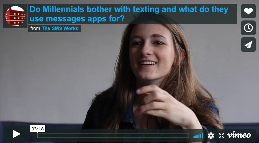 Is SMS still alive for Millennials? We found one and asked her. Video