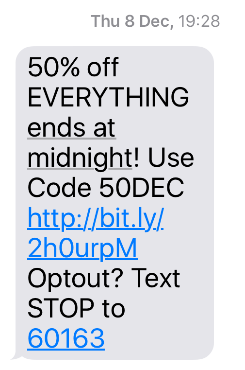 Perfect SMS Marketing Message