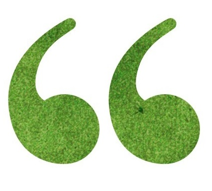 Green open quotes